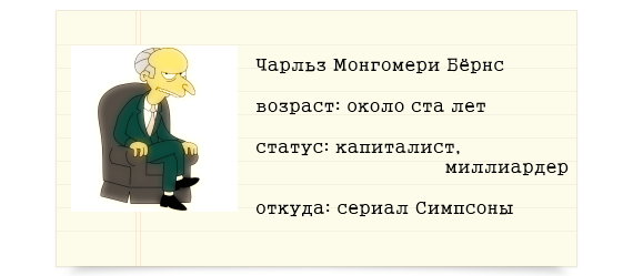 Мистер Бёрнс из Симпсонов