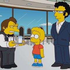 Барт Симпсон с кудрявой прической