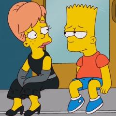 Барт флиртует с девушкой