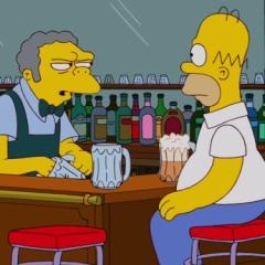 Гомер в баре у своего товарища Мо