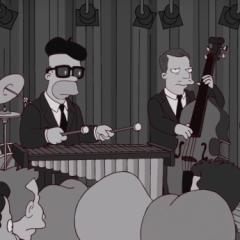 Гомер Симпсон в стиле Ретро